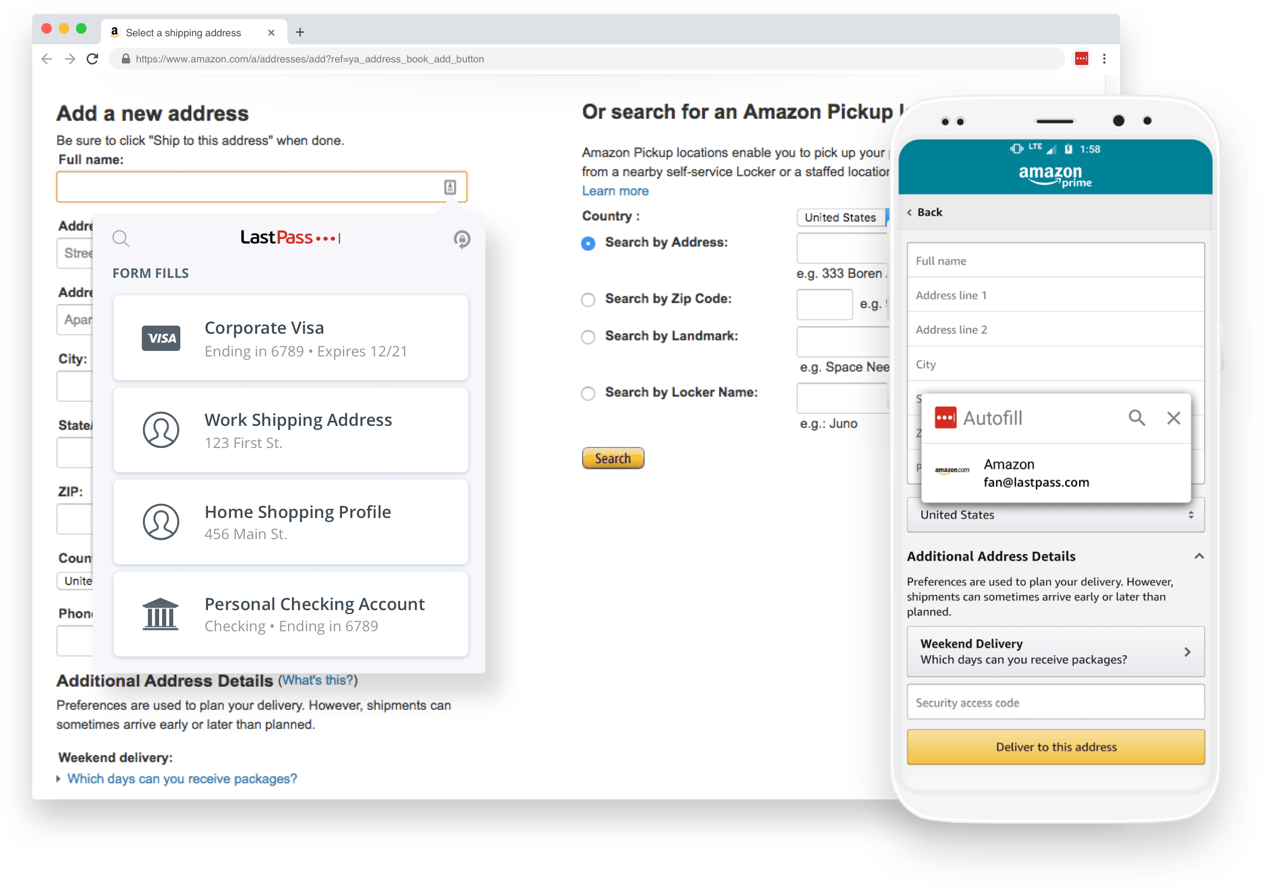 How to use autofill to fill in payment information.